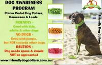 The best way to prevent dog accidents! Friendly Dog Collars!