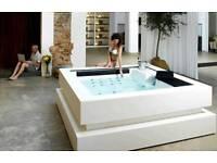 Hot tub white spa jetstream deluxe jacuzzi