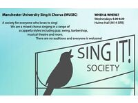 Singers wanted for A Cappella group Wednesdays 6-8