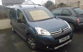 2015 Citroen Berlingo Multispace XTR Blue HDI 1.6 Litre Turbo Diesel 11500 miles. £20 tax