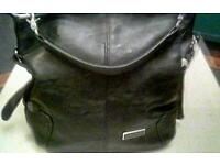 LADIES BLACK LARGE JIMMY CHOO BAG ,12 BY 13 INCHES