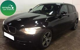 £196.56 PER MONTH BLACK 2014 BMW 118D 2.0 SPORT 5 DOOR DIESEL MANUAL