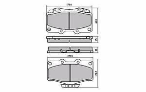 TOYOTA HILUX 4RUNNER  front brake pads - AUTOLINE PREMIUM Bibra Lake Cockburn Area Preview