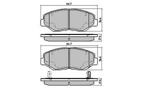 DB1481 Honda Accord & CRV 2002-onwards FRONT Disc Brake Pads