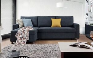 Quality,Affordable, Style Condo Size Fabric Sectional Sofa Bed