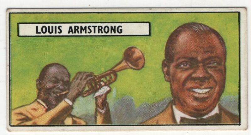 Louis Armstrong Satchmo Jazz Trumpeter Composer Singer Vintage Trade Ad Card