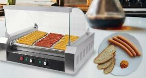 Commercial 30 Hot Dog Hotdog Roller Grill  w/ cover - FREE SHIPPING