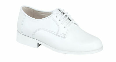 Vegace Boys Kids White Dress Leather Shoe Lace Church Formal Tuxedo Communion