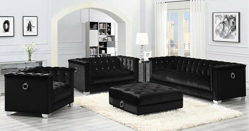 Pleasant Coaster Fine Furniture Chaviano Black Leatherette Sofa And Loveseat Ocoug Best Dining Table And Chair Ideas Images Ocougorg