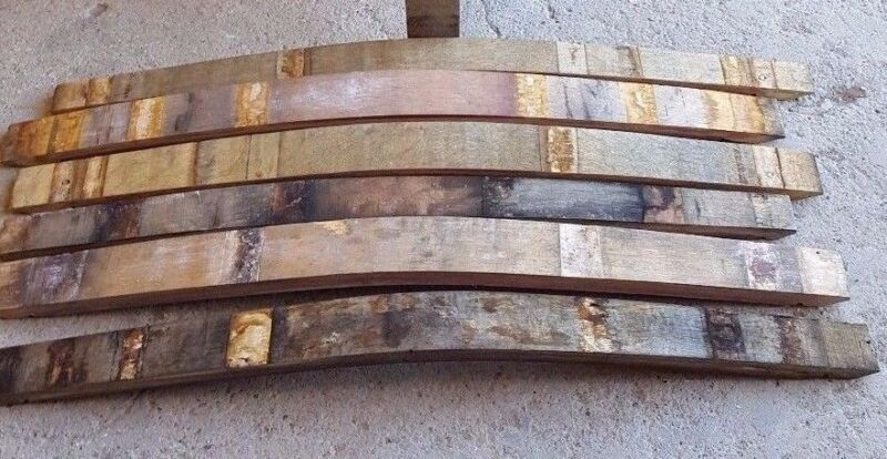5 Used Wine Barrel Staves from a Napa Valley Winery