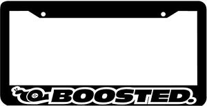 Boosted Turbo Boost Snail Jdm Jdm License Plate Frame
