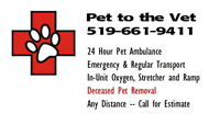 Pet Ambulance /Transportation Service