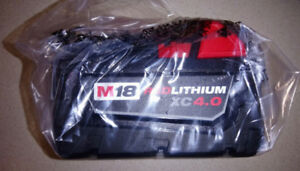 Milwaukee M18 4.0Ah Battery Pack