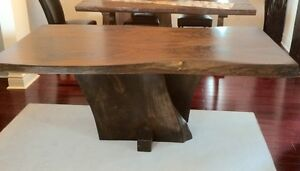 Rustic barnboard live edge custom tables cabinets benches doors Cambridge Kitchener Area image 7
