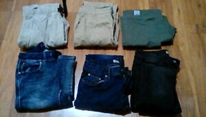 Boys size 14/16 pants lot