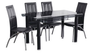 Phoenix Tinted Tempered Glass Dining Set - New in Box