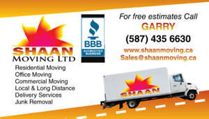 SHAAN MOVERS - BBB Accredited  - $69 hourly - 5874356630