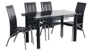 Brand New in Box -> Tinted Tempered Glass 5pc Dining Set