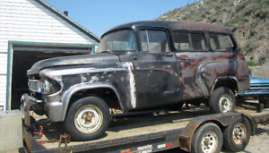 1961 Dodge Town Wagon panel project on 1988 Dodge shortbox truck