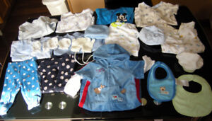Baby boy-NB to 18mons of clothing, 2 Rec. blankets, Snowsuite