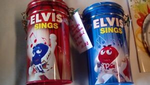 FOR SALE: 2 MUSICAL ELVIS M & M CONTAINERS