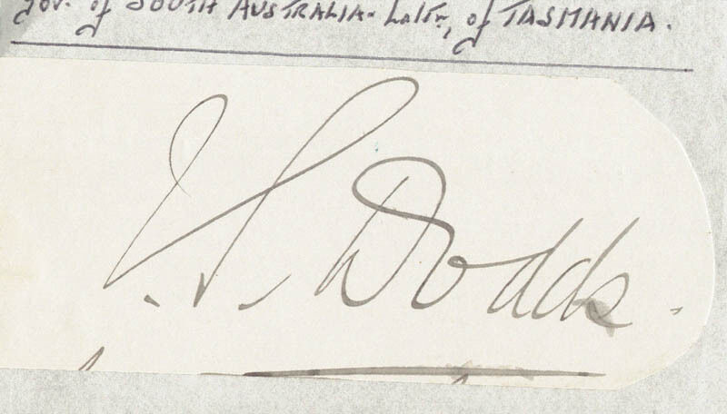 SIR JOHN STOKELL DODDS - CLIPPED SIGNATURE