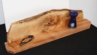 Medium Live Edge Maple Wall Shelf