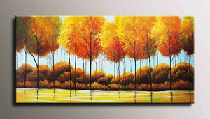 HUGE Framed Hand-Painted Modern Oil Painting Edmonton Edmonton Area image 1