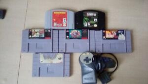 SNES/N64 Retro Video Games + Hardware