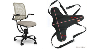 Boxing SALE - SpinaliS Active Sitting Chair + FREE Car Seat Pad