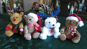 Sears Exclusive Christmas Plush Animals (Beanies)