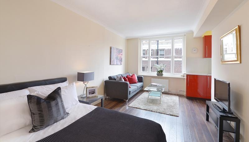 Mayfair. A well proportioned studio apartment in highly desirable location, close to Underground.