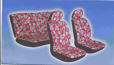 NEW FRONT AND BACK LOW BACK HAWAIIAN SEAT COVER FREE STEERING WHEEL COVER Seat Covers Hawaiian Cover