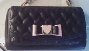 BETSEY JOHNSON: Black Quilted Crossbody/Clutch Purse..NEW !