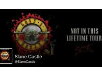 GUNS AND ROSES 'GOLD CIRCLE', SLANE CASTLE , SOLD OUT