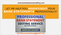 Novelty Paystubs and Bank Statements Creation or Editing Service