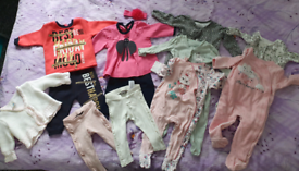 Bundle of baby girl clothes- 6-9 months old