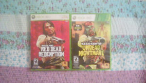 XBOX 360 combo - Red Dead Redemption + Undead Nightmare