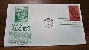 TWO 1965 Dante Aligheri 5 Cent First Day Covers Kitchener / Waterloo Kitchener Area image 4
