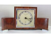 Garrard Mantel Clock with 8 Day Elliott Movement c.1950s excellent order and timekeeper.