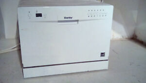 Counter top Danby dishwasher barely used.