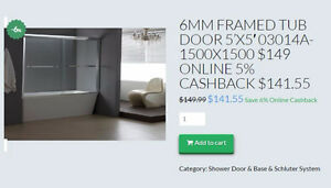 HOME IDOL TUB & SHOWER DOOR $149-$199 5% CASHBACK