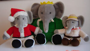 Wonderful Lot of Vintage Babars - Mint Condition! - Made by Gund