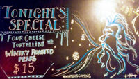 Chalkboard Artist for Hire