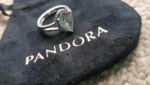 PANDORA Sterling Silver Teardrop wish ring Set. Size 52. Kyneton Macedon Ranges Preview