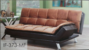 New! Beautiful Sofa bed/Klik klak brown elephant skin W/PU Sale!