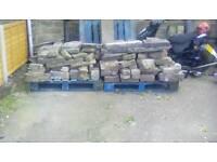 Yorkshire stone ,walling, rockery