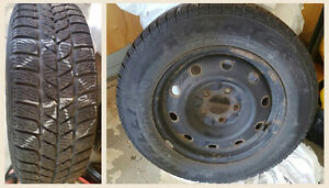 Pirelli snow tires on rims