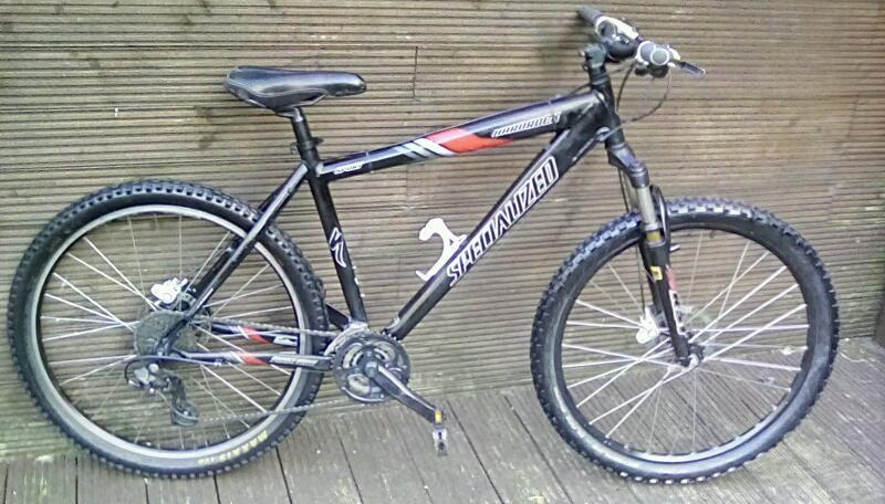 ALUMINIUM SPECIALIZED SPORT MOUNTAIN BIKE WITH 27 GEARSin Llanishen, CardiffGumtree - Aluminium specialized sport mountain bike ,with front suspension ,hydraulic brakes, ( new brake pads) used but really nice condition, in working order. 19 inch frame, 26 inch wheels, 27 trigger gears£90No offeredCollection pontypriddCan deliver if...