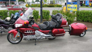 2008 Honda Gold Wing and Uni-go Single-Wheel Trailer